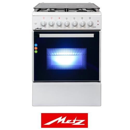 שונות תנור משולב גז/חשמל תנור רחב בצבע לבן מבית METZ דגם M60W HS-66