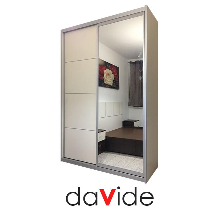 ברצינות ארון הזזה 2 דלתות עם דלת מראה אחת במבצע מבית DAVIDE דגם PRINCESS LT-38